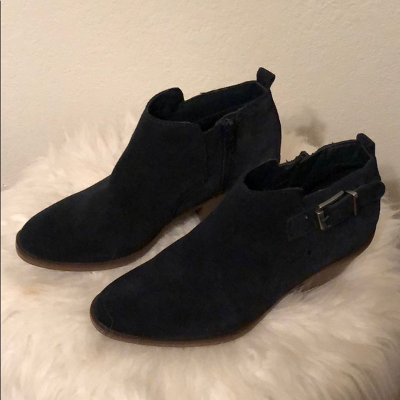 Sonoma Shoes Navy Blue Ankle Boots Poshmark